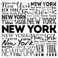 New York wallpaper word cloud, travel concept background