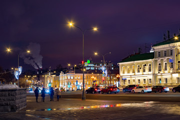 City the Moscow the Volkhonka street.Russia.