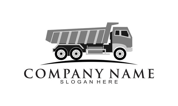 Dump truck company logo