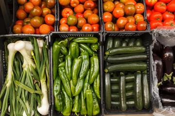 Vegetables for Sale in a Market in Estepona Spain