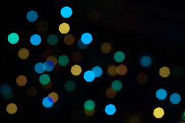 Colourful Image of Bokeh with Christmas Lights