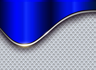Abstract business background, elegant silver blue