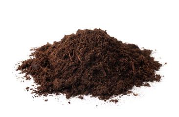 Pile of peat soil