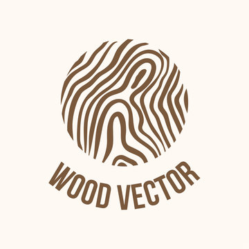 Wood and timber texture symbol logo illustration
