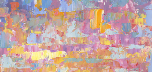 Colorful textured background. Oil paint. High detail & resolution. Can be used for web design, art print, etc.