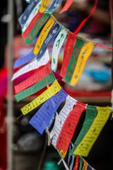Buddhist worship flags