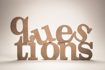 Questions Wood Word