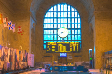 Toronto, Canada, Great Hall at Union Station, Canadian National Heritage Site