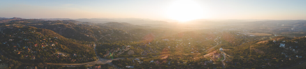Panoramic aerial image over the town of Nelspruit / Mbombela in the Mpumalanga province of South Africa.