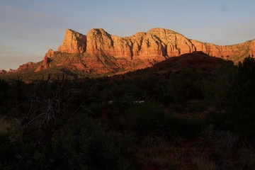 Sunset Over the Rocks in Sedona Arizona