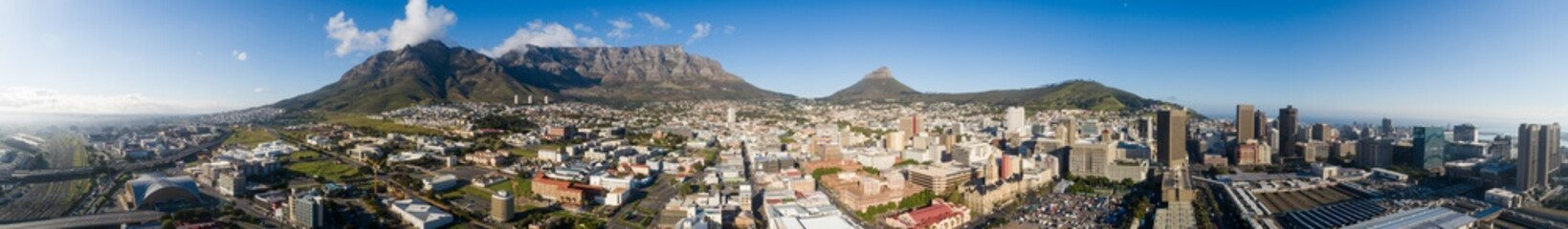 Panoramic aerial view over the city of Cape Town in South Africa Wall mural
