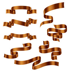 Set of Brown Ribbons