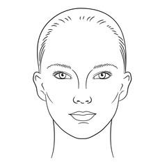 Obraz Young woman face - fototapety do salonu