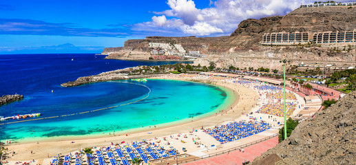 Fototapete - Best beaches of Gran Canaria - Playa de los amadores. Canary islands
