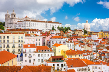 Lisbon, Portugal old city skyline