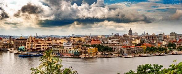 Fotorollo Havana Panorama Havanna Kuba Altstadt