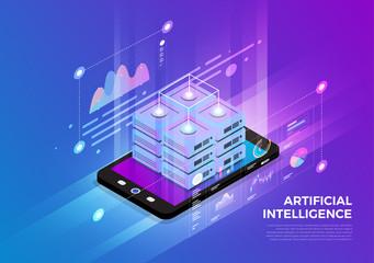 Isometric Digital Concept.