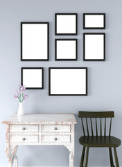 picture frame interior 3d rendering