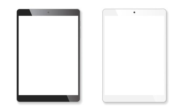 Realistic tablet mockup set