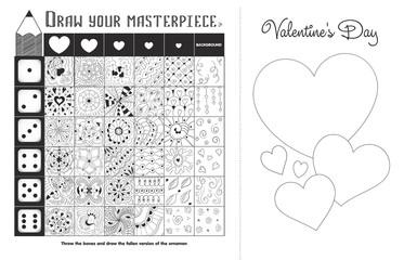 game zentangle elements Valentine black