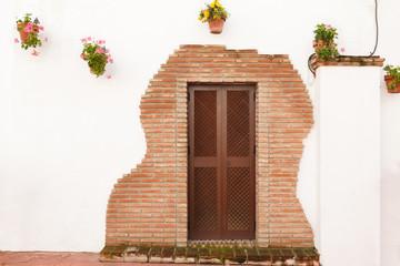 Door with Bricks Around in Estepona Spain