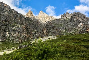 Tour de Mont Blanc. Szwajcaria, Alpy, Europa