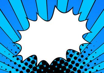 Pop art explosion in cartoon style