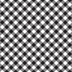 Black and white fabric texture. Vector illustration.