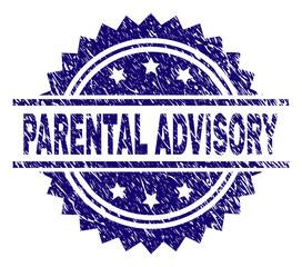 Parental Advisory Blue