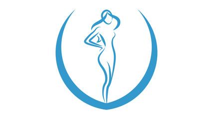 Beauty logo vector design. Beauty icon, woman icon