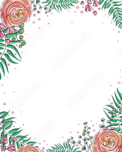 Floral Wedding Invitation elegant invite card vector Design