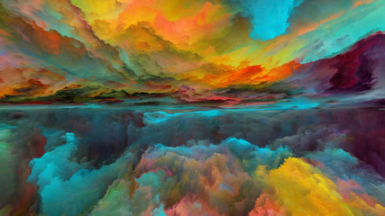 Evolving Abstract Landscape