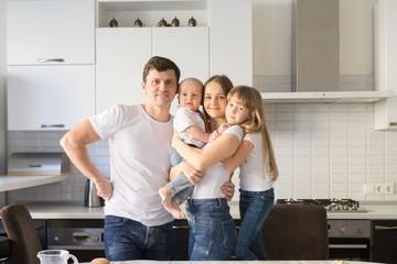 Happy family, kitchen