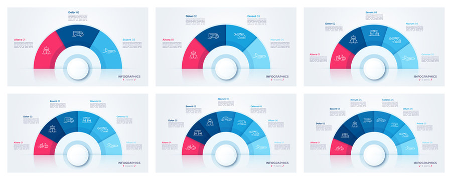 Vector circle chart design, modern templates for creating infographics