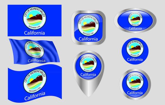 Flag of Moreno Valley, California