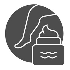 Cream for feet solid icon. Foot cream illustration isolated on white. Skin care glyph style design, designed for web and app. Eps 10.