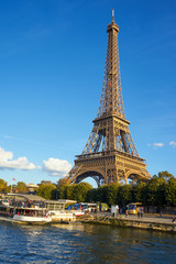 Eiffel Tower Taken From A Boat At Seine River