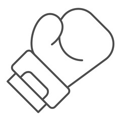 Boxing glove thin line icon. Sport equipment vector illustration isolated on white. Box outline style design, designed for web and app. Eps 10.