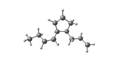 Multifidene molecular structure isolated on white