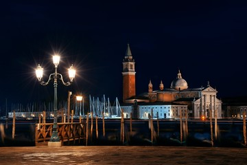 Wall Mural - Venice at night and San Giorgio Maggiore church
