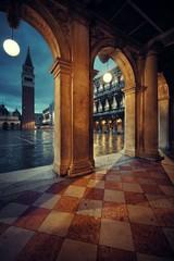 Wall Mural - Piazza San Marco hallway night view