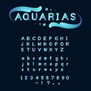 blue Aqua font