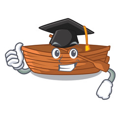 Graduation wooden boats isolated with the cartoons