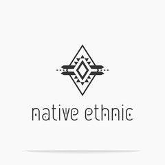Native Ethnic geometric logo. Abstract design Vector illustration.