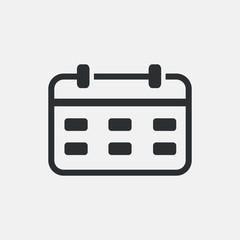 Calendar vector icon dates