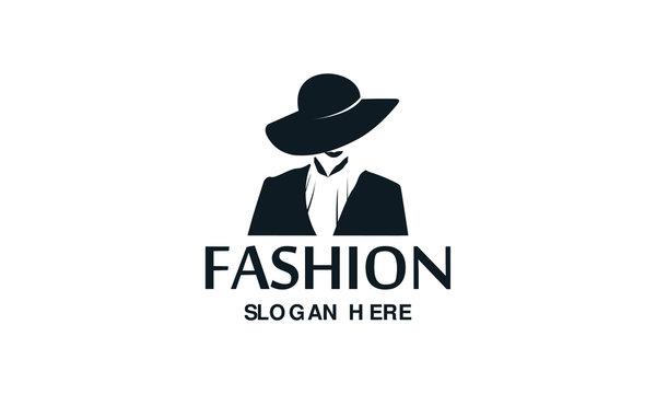 Fashion woman logo design template. Awesome fashion woman with hat logo. A fashion woman logotype.