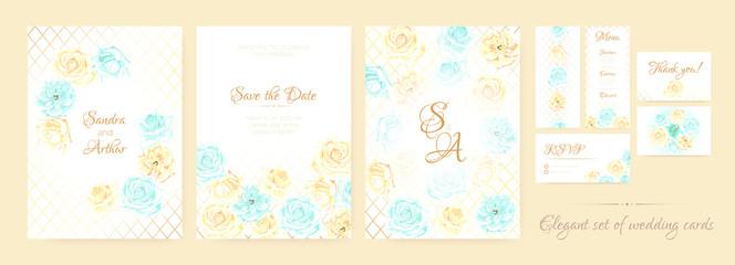 Wedding Invite in Vintage Style.