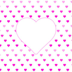 Hearts pattern, symbol background. Valentine's day and Mother's day card prink, pink, red colors. Love expression vector. Illustration