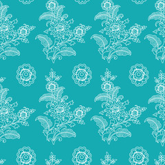 Vector Floral seamless pattern background. Perfect for fabric, wallpaper projects, scrap-booking, gift wrap papers etc.