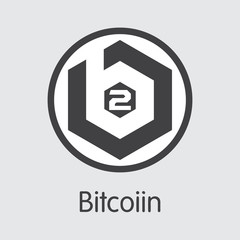 B2G - Bitcoiin. The Icon of Cryptocurrency or Market Emblem.